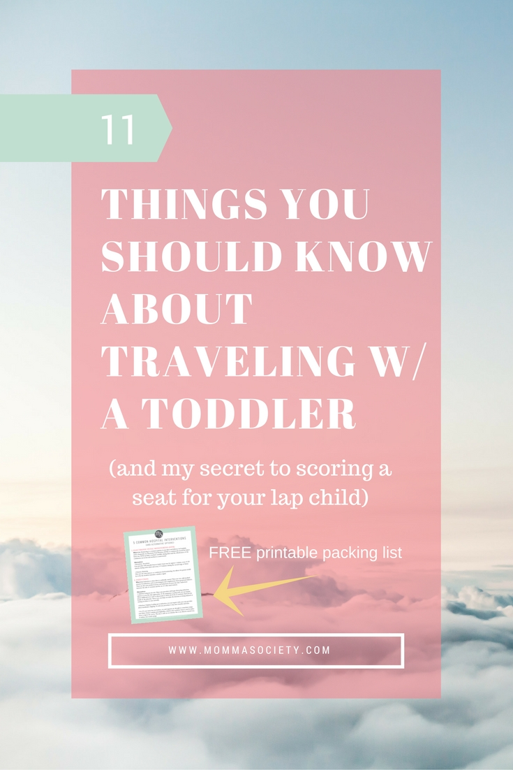 11 Tips for Traveling Abroad with A Toddler & FREE printable packing list