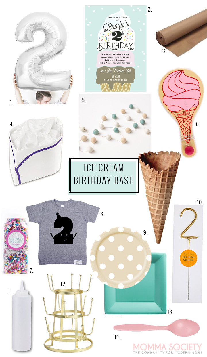 Ice Cream Cone Birthday Party Invitations | Ice Cream Birthday | Ice Cream Sundae | Ice Cream Bar