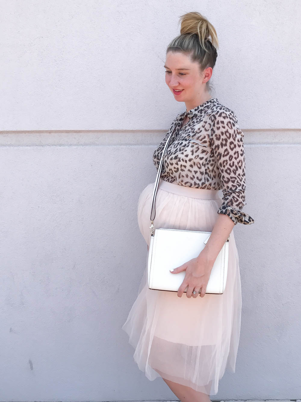 Tulle Maternity Skirt and Leopard Top | Maternity Clothes | Bump Style Summer | Maternity Fashion | Bump Style | Shop Pink Blush Maternity