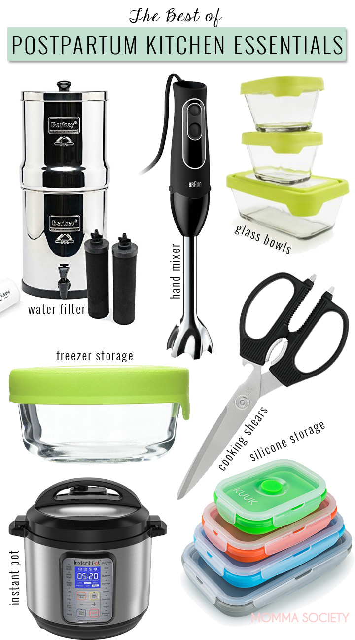 5 Best Kitchen Tools Every Postpartum Momma Needs | Momma Society | Kitchen Gear | Kitchen Tools