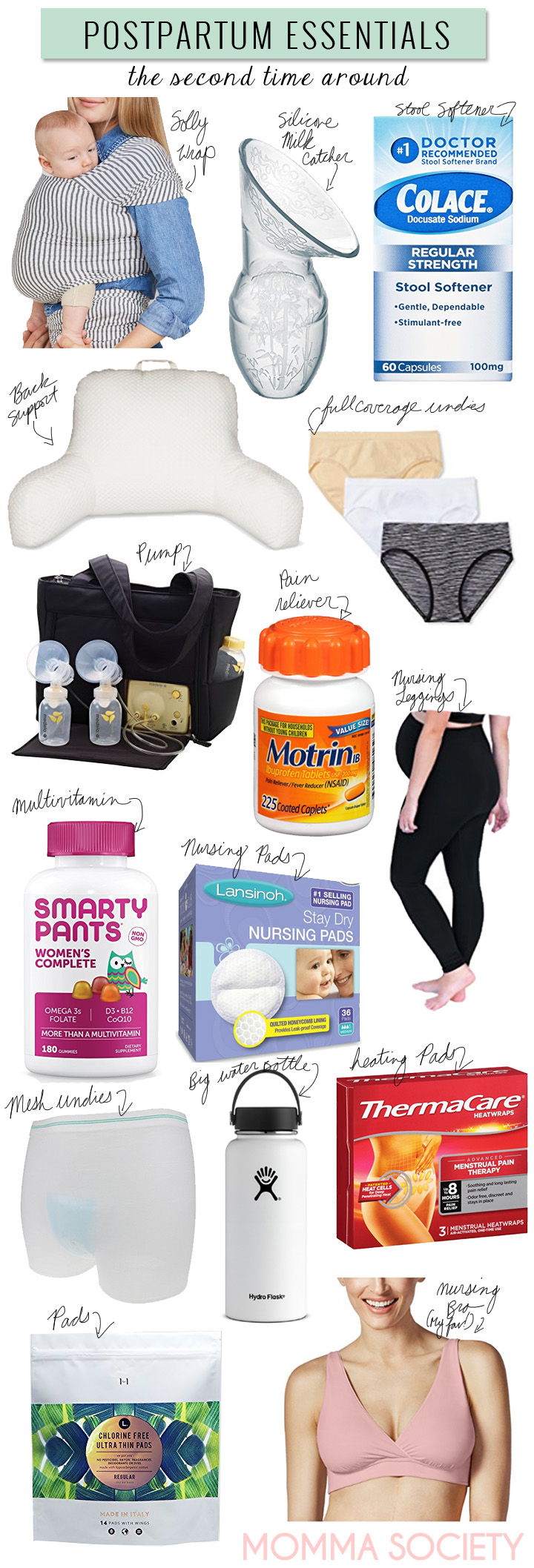 Postpartum Essentials Birth Hospital Bag Packing List.jpg