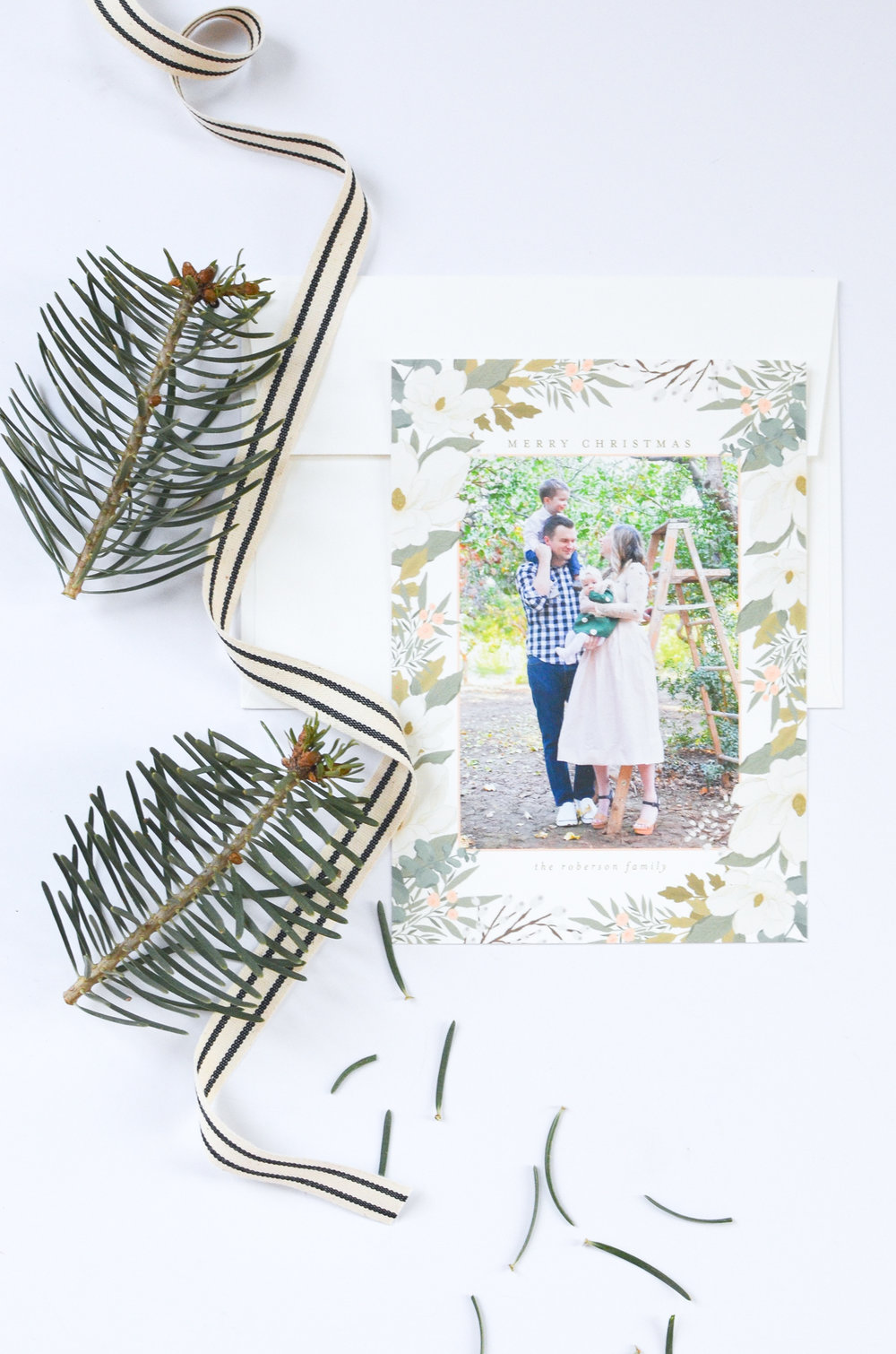 Minted Christmas Cards | Stationary Flat Lay | Family Christmas Outfits