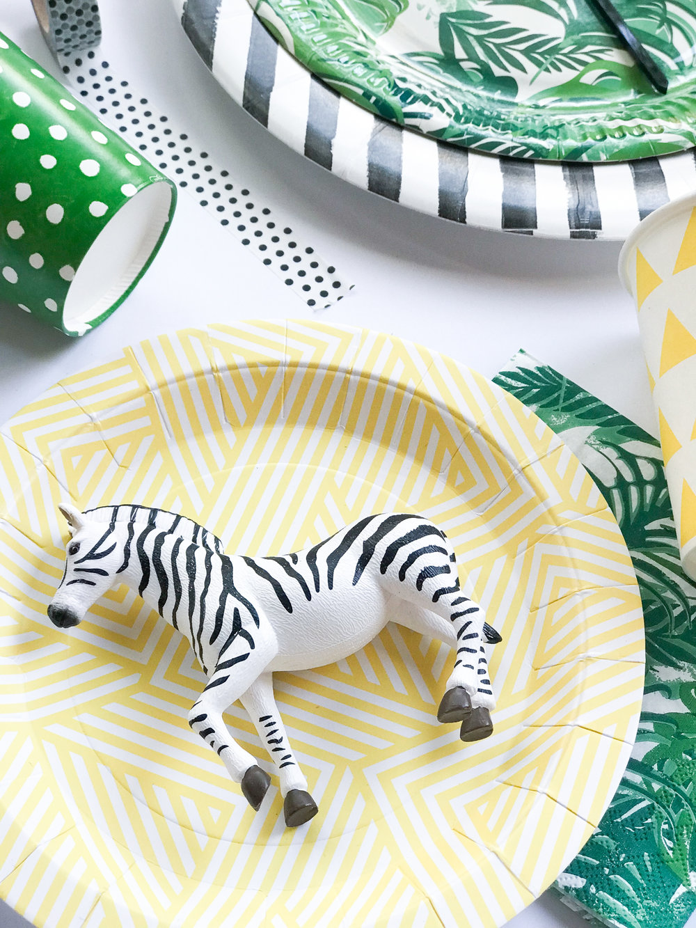 Modern Jungle Zoo Kids Young Wild Three Birthday Party Toddler