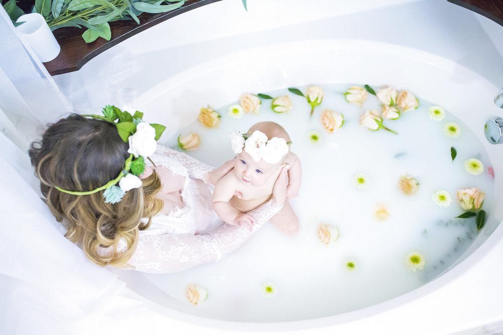 Nursing Milk Bath Maternity Newborn Photography Momma Society