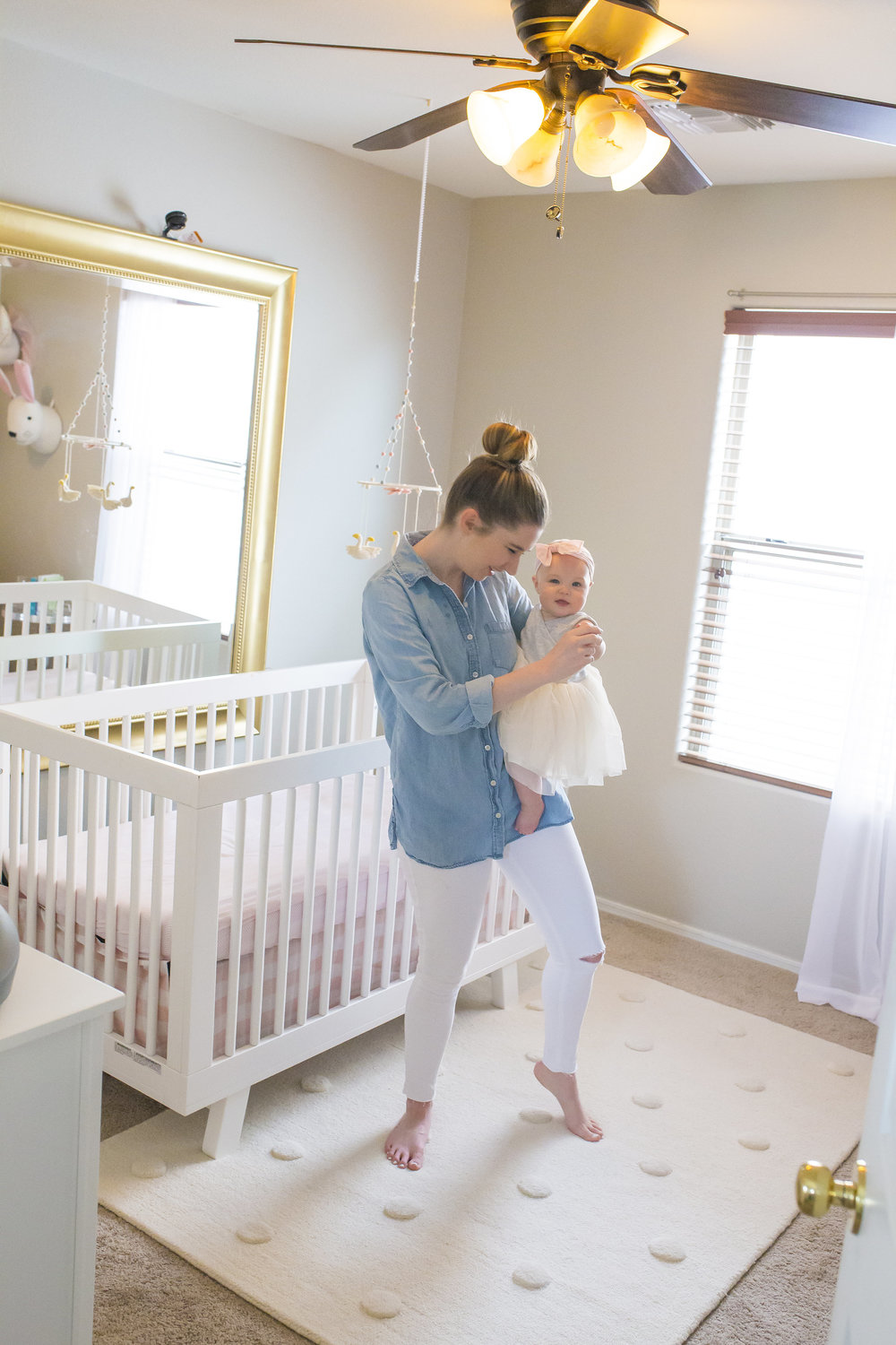 Family Home Lifestyle Dancing Mom and Baby