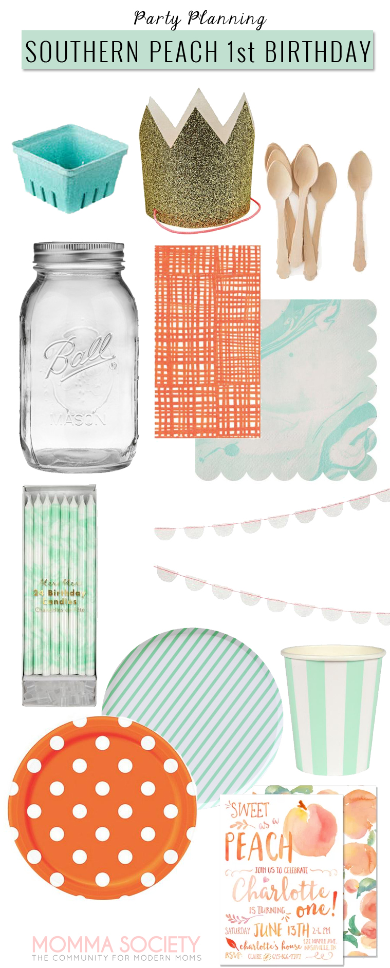 Peach Party Inspiration Board