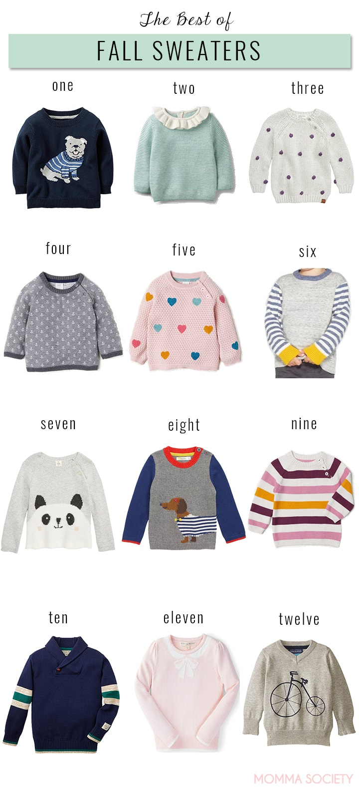 Best of Fall Sweaters for Babies and Toddlers | Momma Society