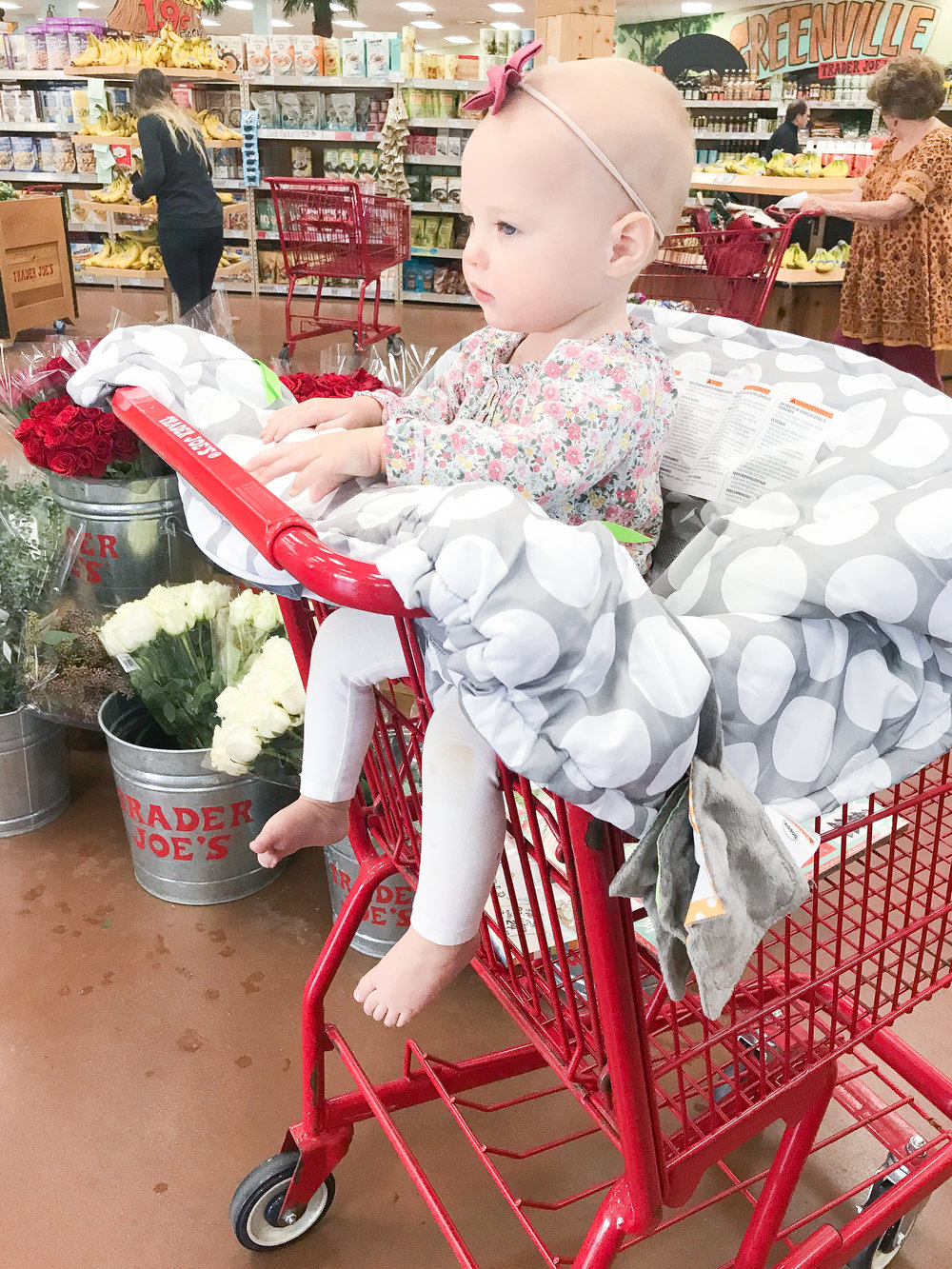 Boppy Shopping Cart Cover Grocery Shopping with Toddler