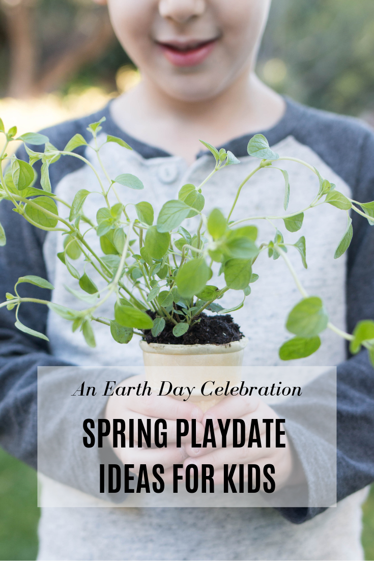 a spring playdate: Earth Day celebration