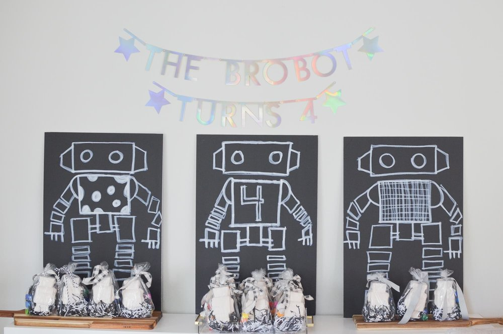 Robot Party Decorations   Momma Society