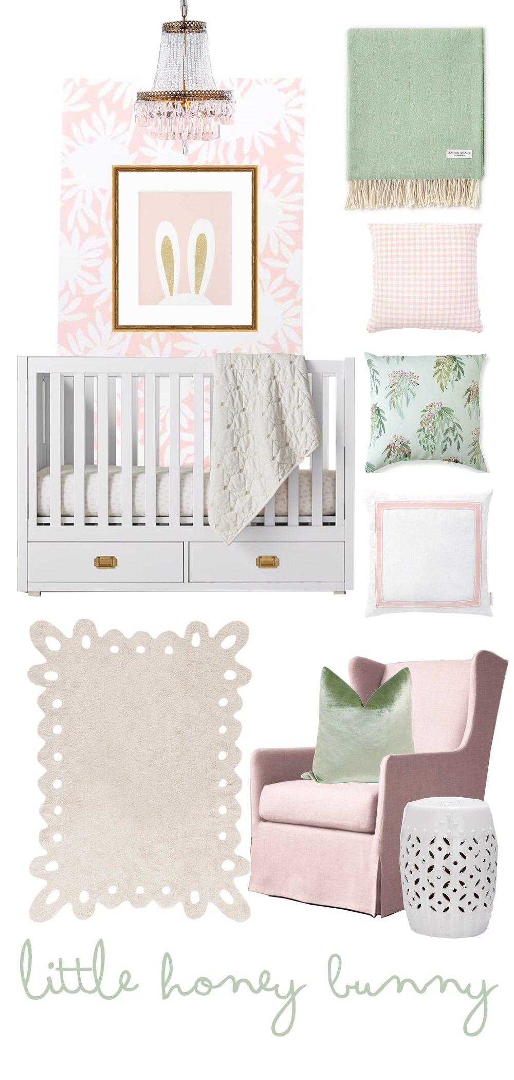 Bunny Inspired Nursery for little girls