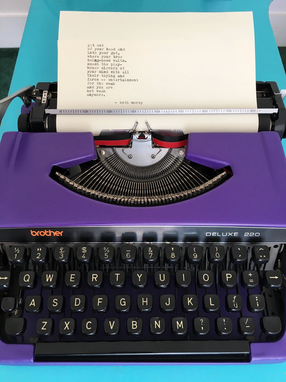 typewriter handmade poem