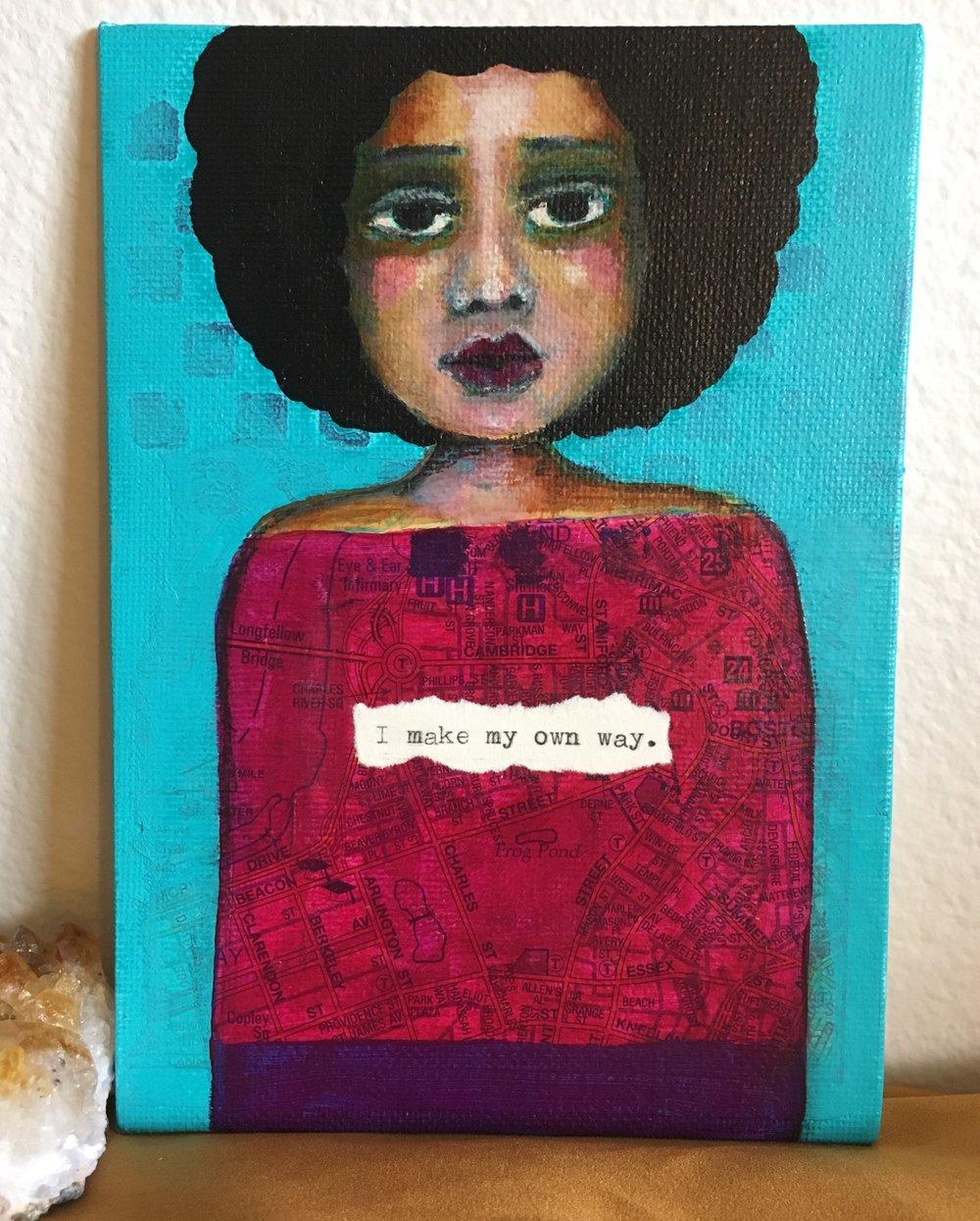 "Fine Art by Beth Morey - ""I Make My Own Way"""