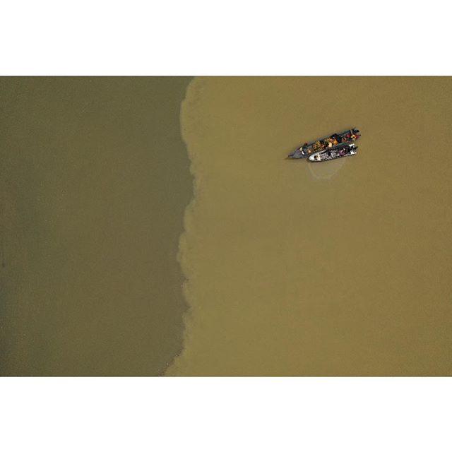 River meets ocean. #Buenaventura #Colombia #djimavic2pro