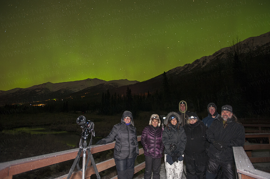 Aurora Photography Class at the Eagle River Nature Center, January 30, 2016