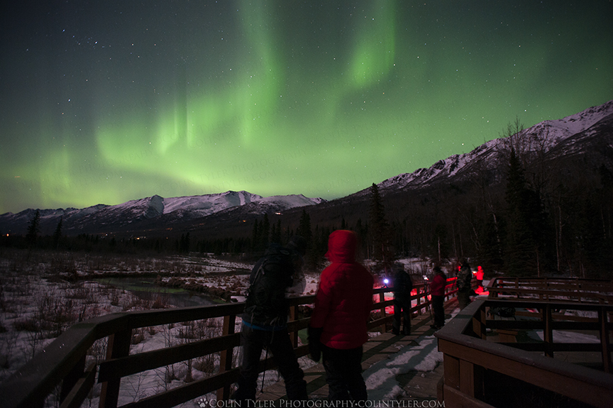 March 2018 Aurora Borealis Class, Eagle River Nature Center, AK.