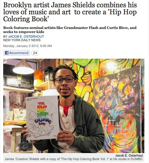 the bed stuy based artist recently released the hip hop coloring book vol 1 a 28 page childrens book that aims to teach kids about two of his favorite - Hip Hop Coloring Book