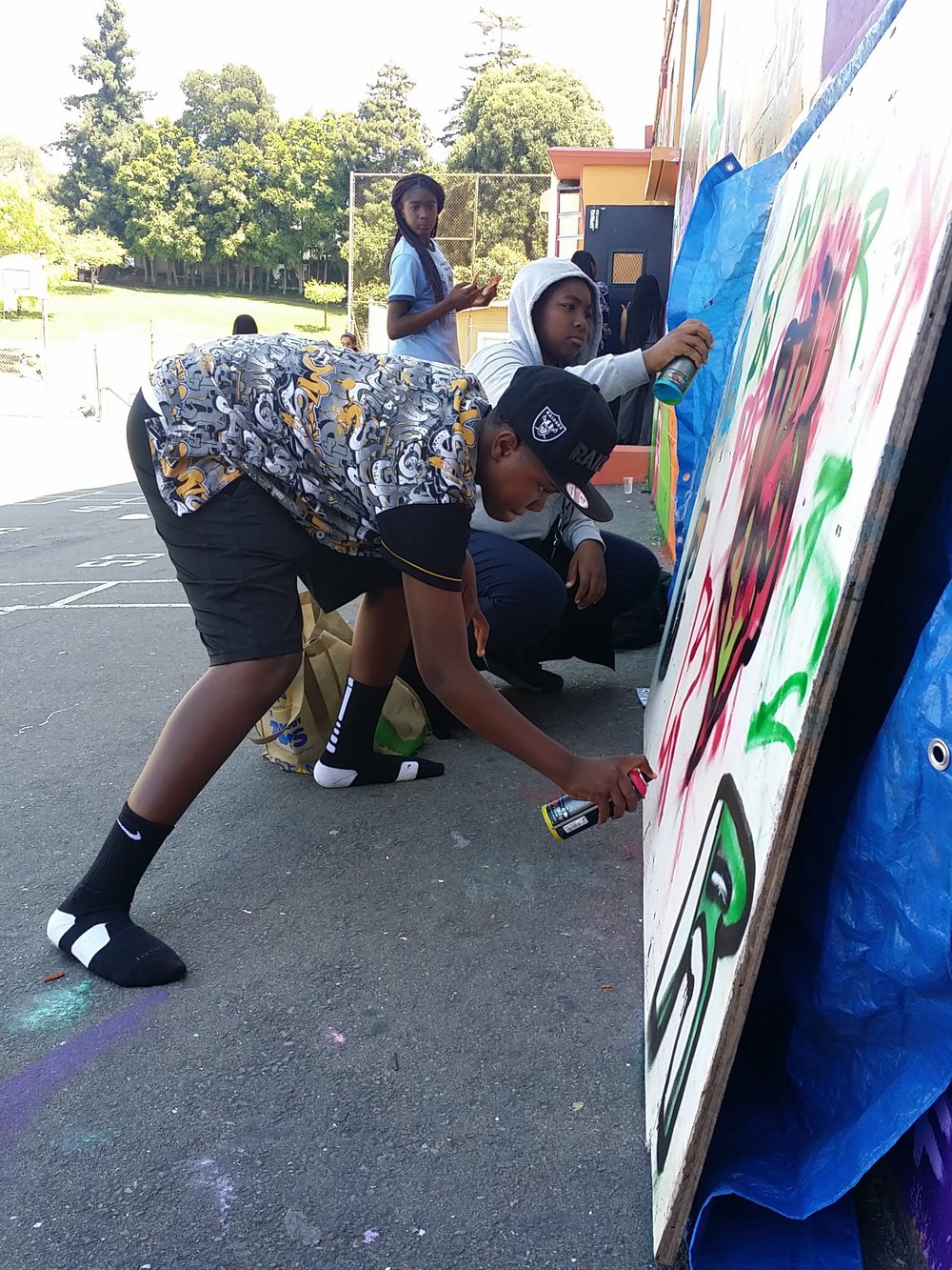 On the last day of Peace Camp students got to showcase their skills on a scrap wood board.