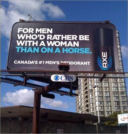 Axe billboard ad