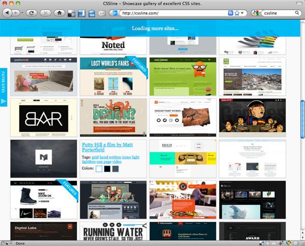 Screenshot of CSSline