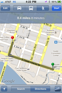 Screenshot of Google Maps