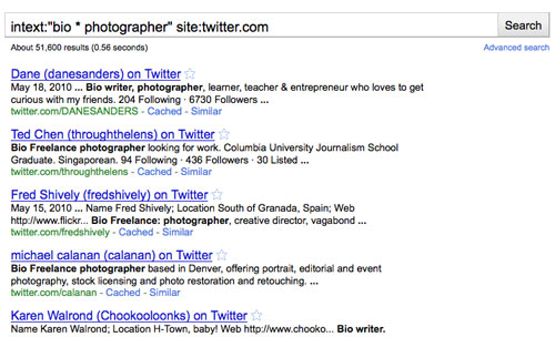 Screenshot of Google search on Twitter