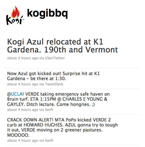 Screenshot of Kogi on Twitter