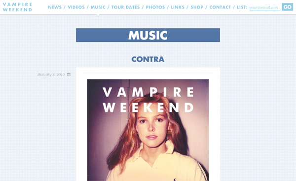 Vampire Weekend Website