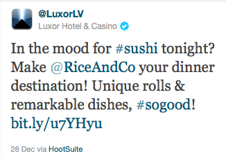 Screenshot of Luxor tweet