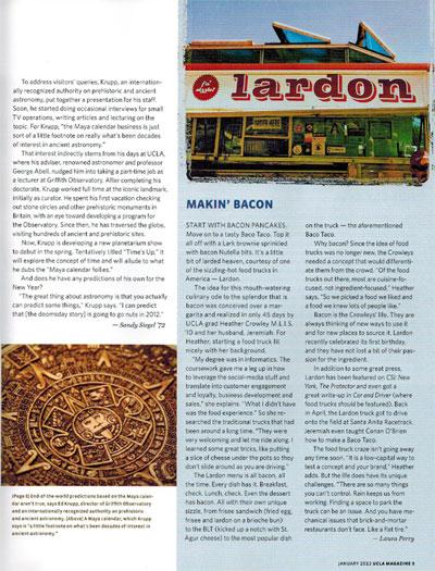 Screenshot of UCLA Magazine website