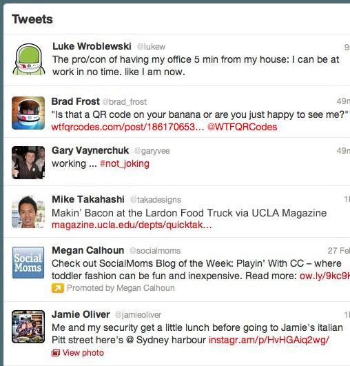 Screenshot of Twitter timeline