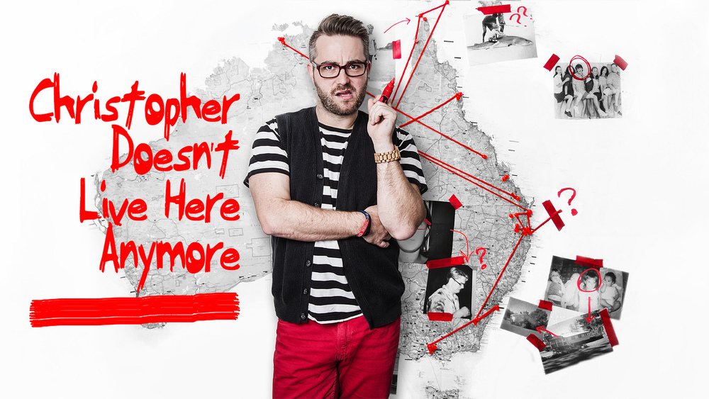 Show poster for  Christopher Doesn't Live Here Anymore  show at the Melbourne Fringe Festival