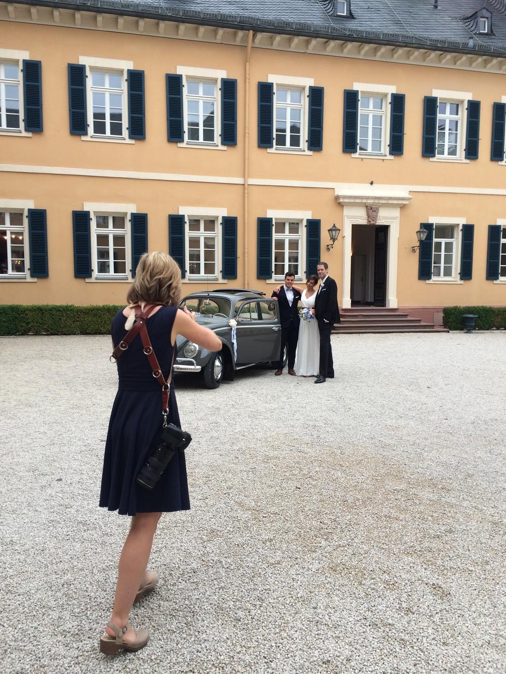Photographinga wedding in Germany