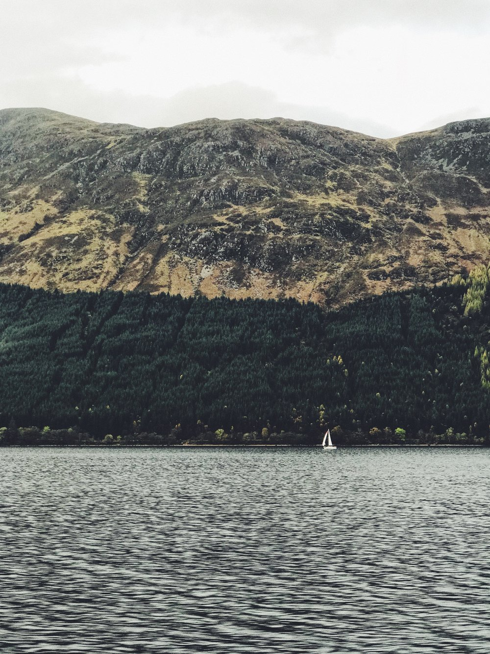 Sailboat on a loch, iPhone