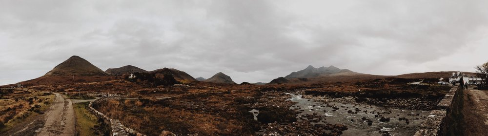 A view of the Isle of Skye from the Cuillins, iPhone panorama