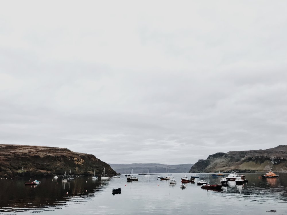 Portree harbour, iPhone
