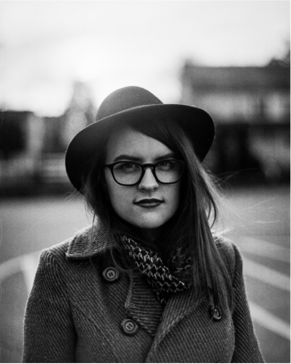 This girl signed me up for the workshop as a surprise. This was back in the US when she had long hair. Kodak black and white film, Nikon F