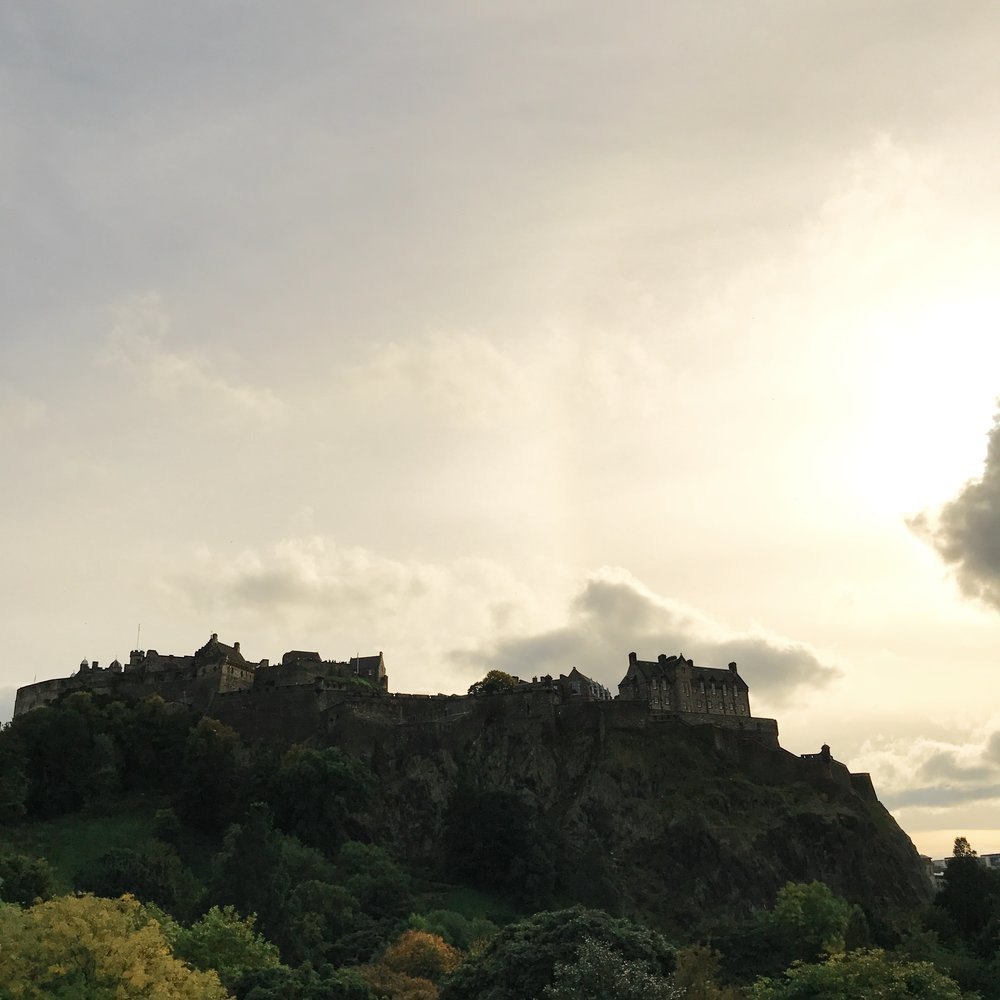 A view from New Town of the Edinburgh Castle. It's the highest point in the city, other than Arthur's Seat. iPhone (Bo)