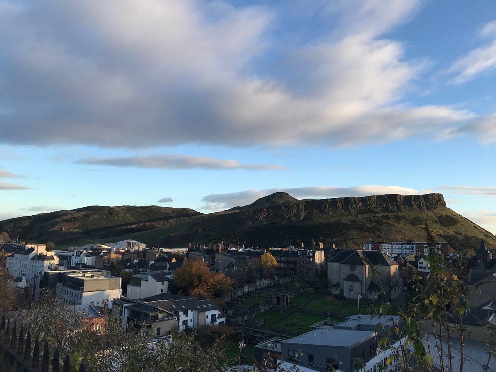 This is Arthur's Seat, a favourite hiking trip, we have yet to conquer.  iPhone (Bo)