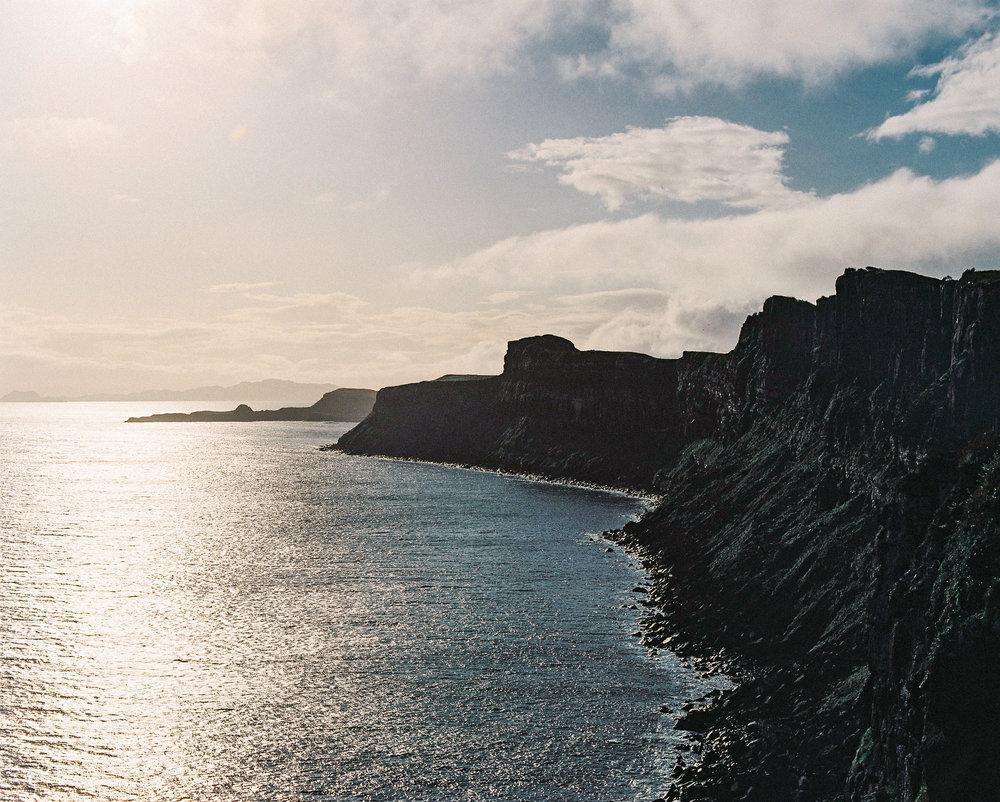 Cliffs at Mealt Falls.Fujifilm color film, Pentax 67