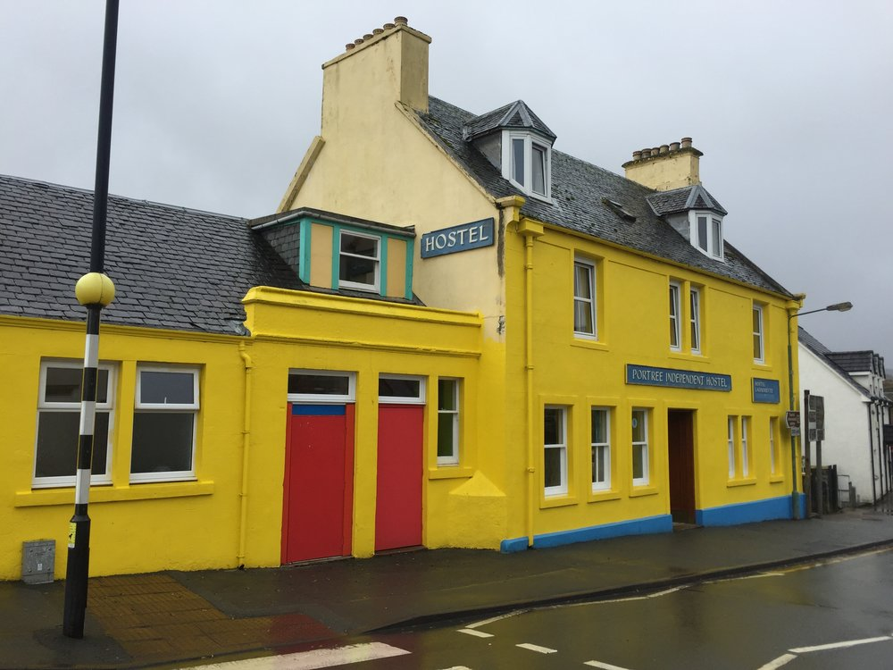 Our hostel in the little town of Portree on the Isle of Skye. We will be back. iPhone.
