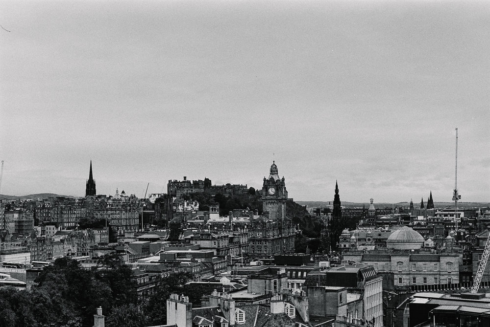 Edinburgh on film. Kodak black and white film, Leica M3.
