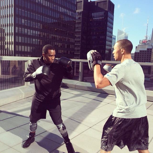 "Jamal Liggin Training Sean ""Puff Daddy"" Combs"