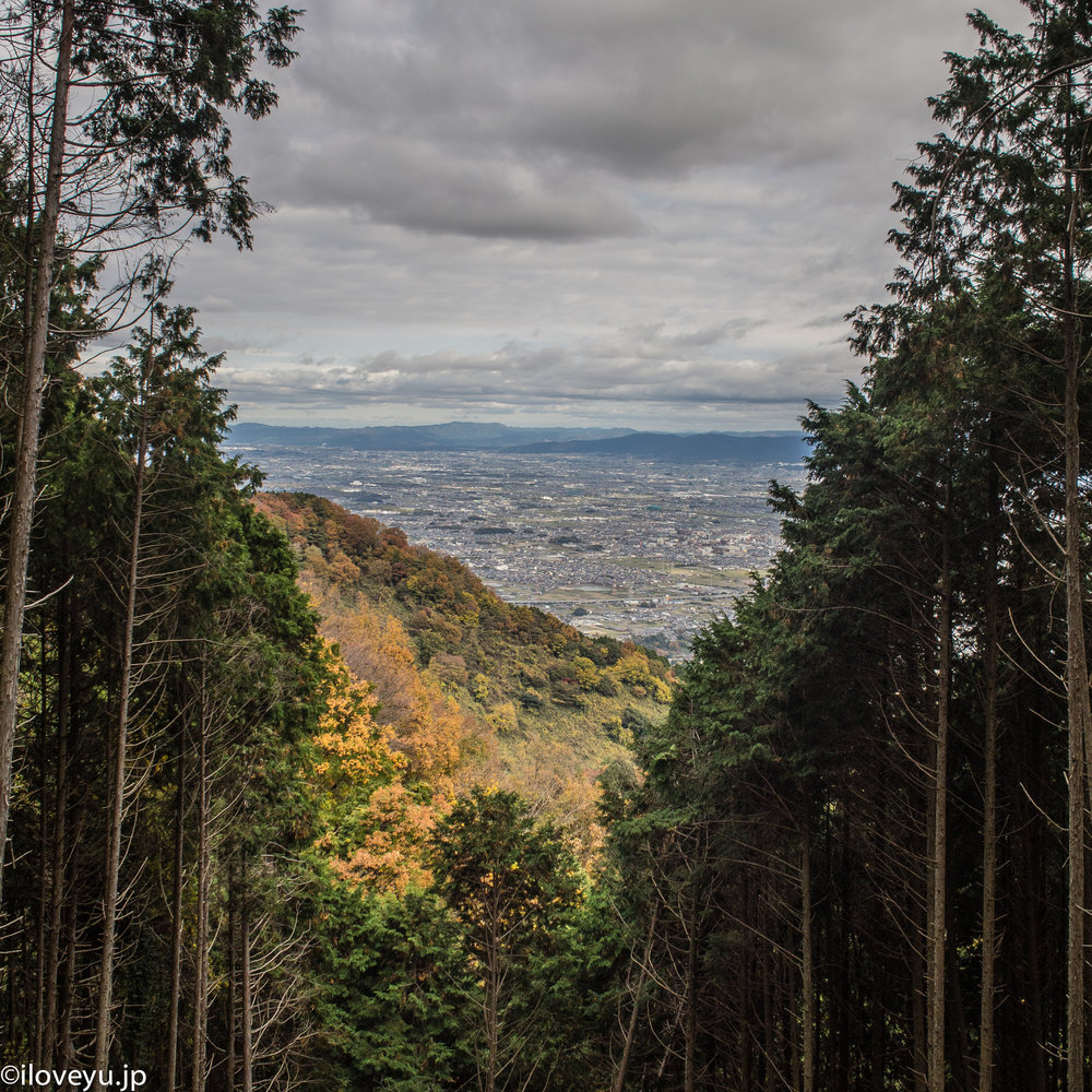 5.    A few times there are views looking out over the Nara basin. The surrounding forest covers most of the trail.