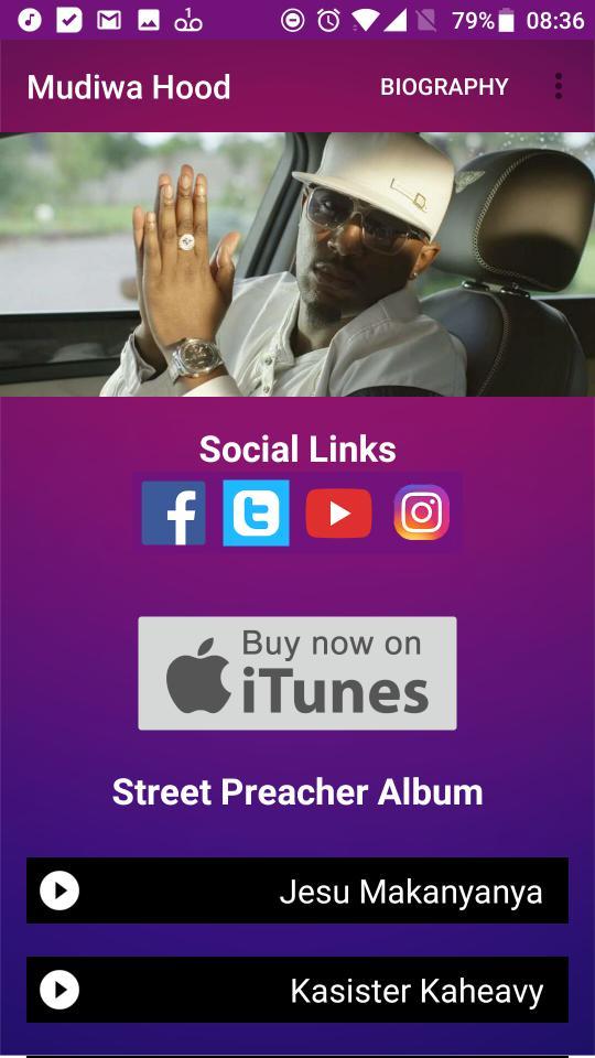Mudiwa Hood releases an app