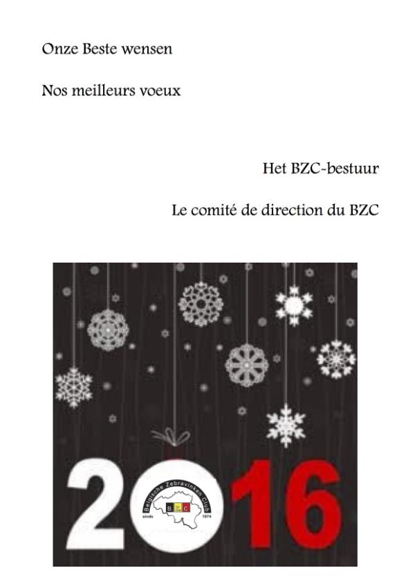 BZC - wensen/voeux 2016