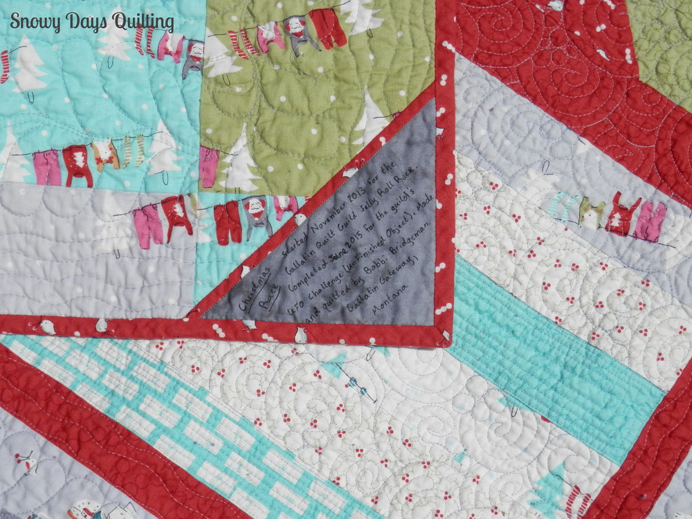 Cherry Christmas jelly roll race quilt