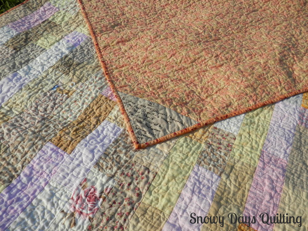 scrappy low volume quilt R1