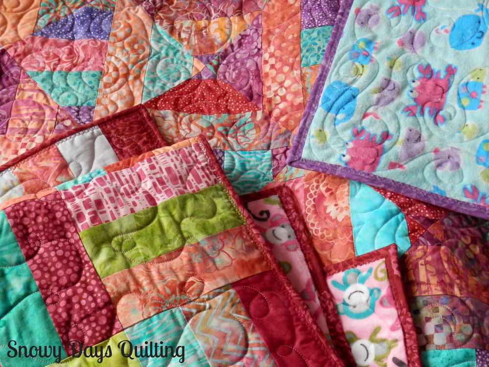 rail fence and 3 dudes baby quilts