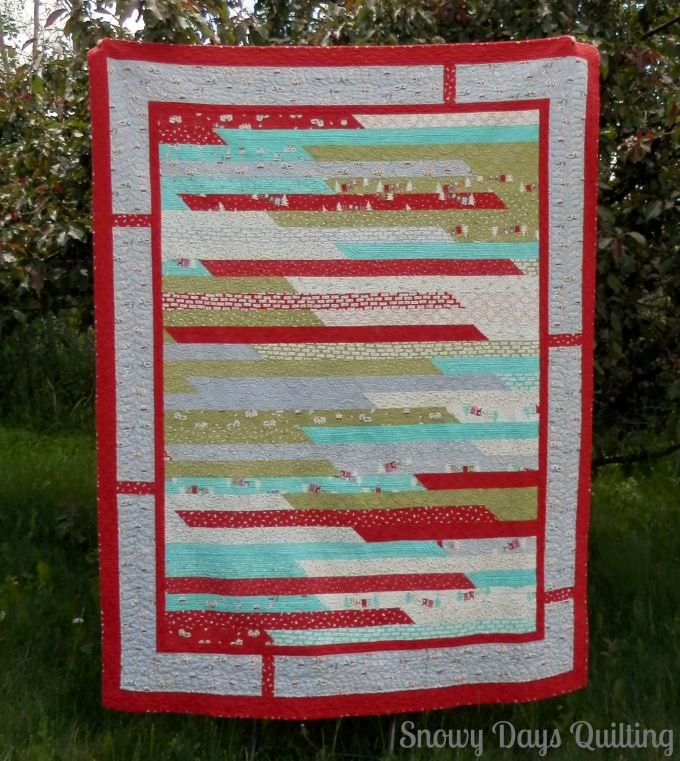 Cherry Christmas Aneela Hoey Moda jelly roll race quilt
